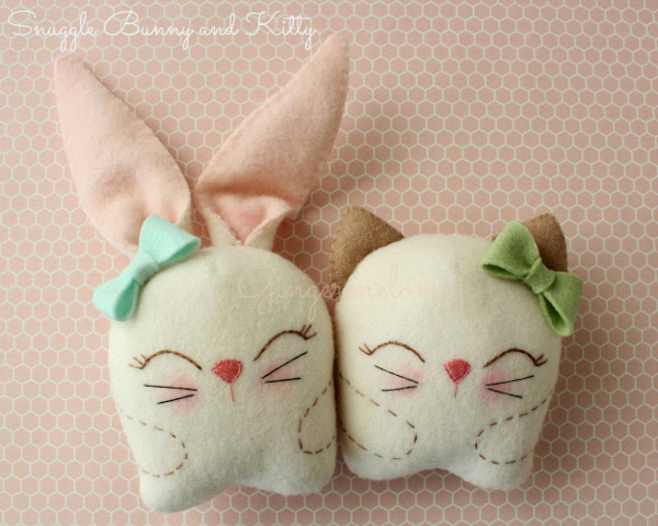 Snuggle Bunny and Kitty from Gingermelon