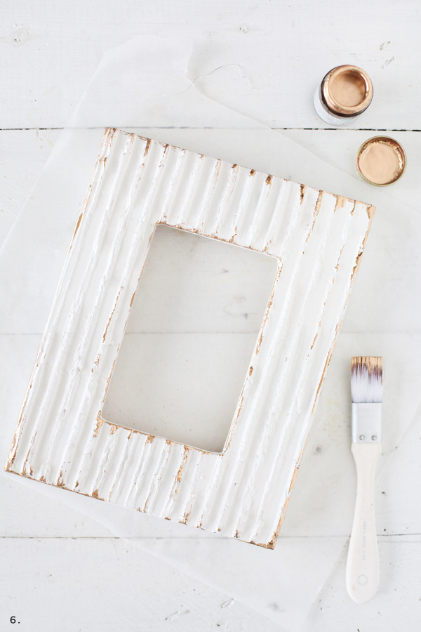 Textured Picture Frame from A Beautiful Mess