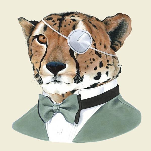 Berkely Illustration - Cheetah Art Print