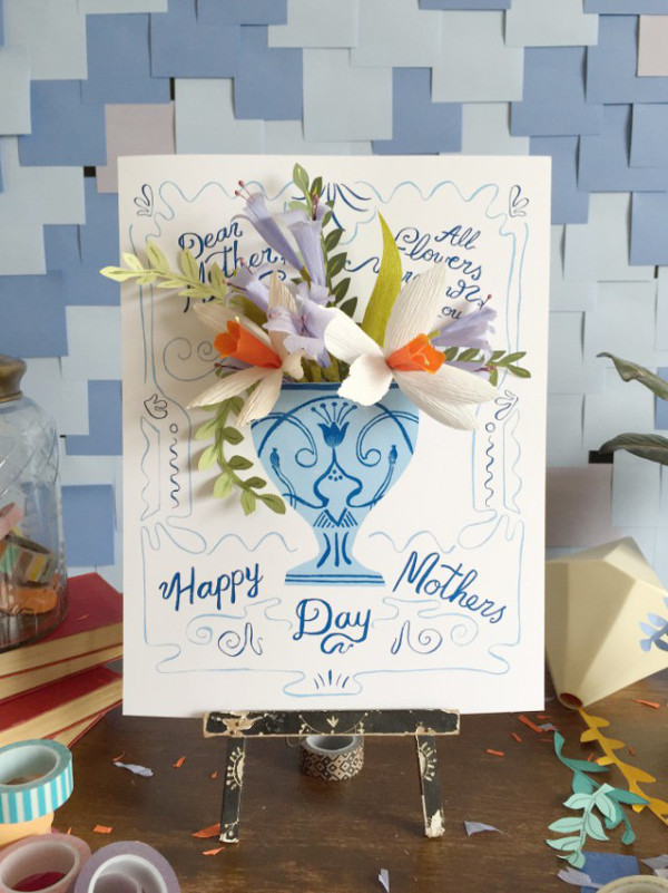 Paper Flower Card Tutorial from The House That Lars Built