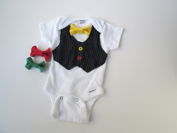 Bow Tie Onesie | Red Circle Crafts