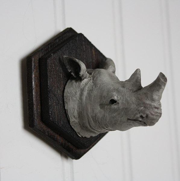 Great & Small - Rhino! Mounted Animal Head