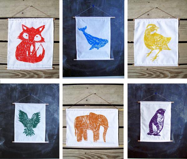 Laura Frisk Art - Block Printed Wall Hangings