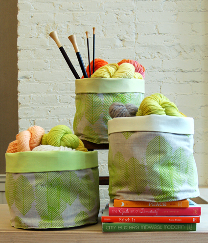 Stash Baskets from The Purl Bee