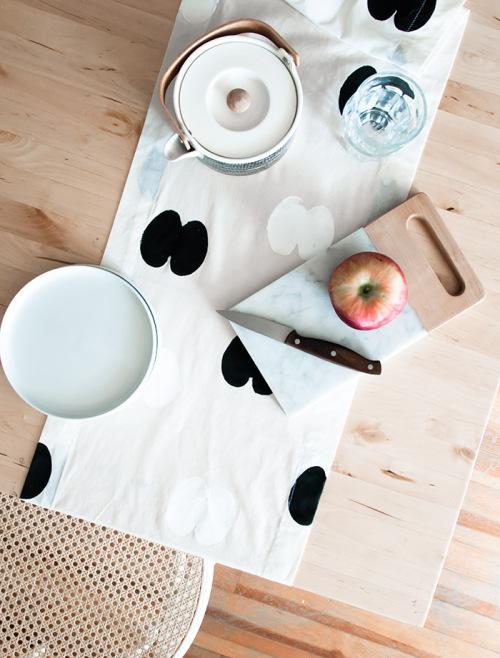 Apple Stamped Table Runner from Design Sponge