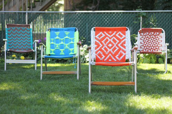Macrame Lawn Chair Tutorial from Duece Cities Hen House
