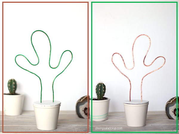 DIY Neon Cactus Light from Shrimp Salad Circus