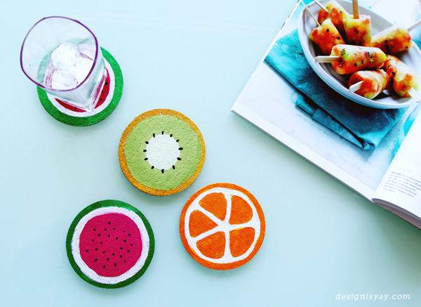 DIY Fruit Coasters | Design is Yay