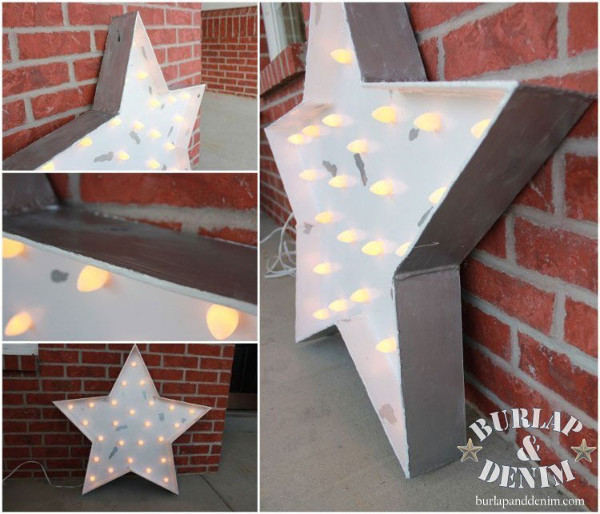 Light Up Marquee Star Sign from Burlap & Denim