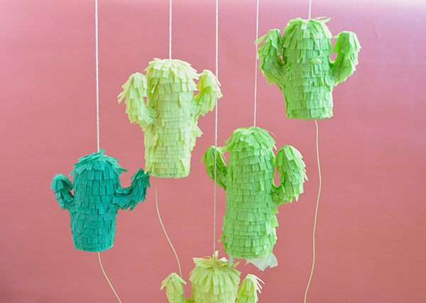 Mini Cactus Pinatas from Oh Happy Day