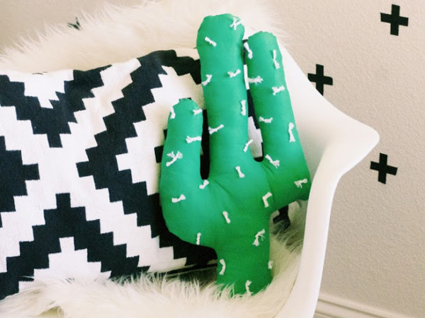 DIY Cactus Pillow from Everything Emily