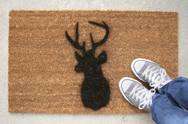 Deer Stenciled Door Mat from Hi + Hello