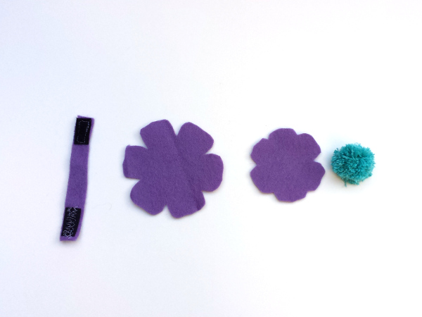 Flower Felt Cord Minder | Red Circle Crafts