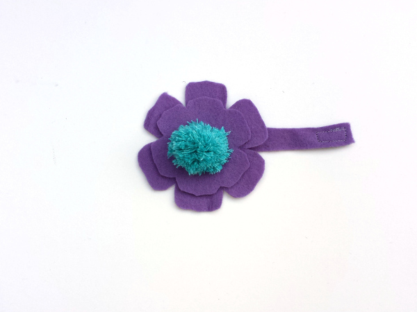 Flower Felt Cord Minder | Red Circle Crafts