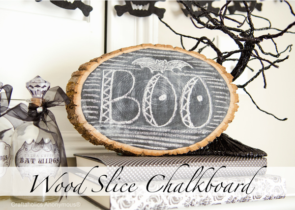 Wood Slice Chalkboard from Craftaholics Anonymous