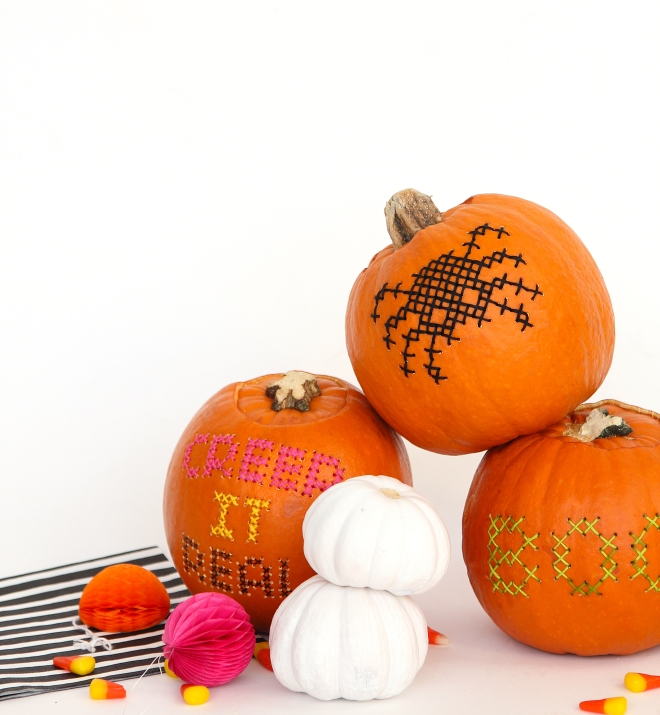 Cross Stitch Pumpkins from Design*Sponge