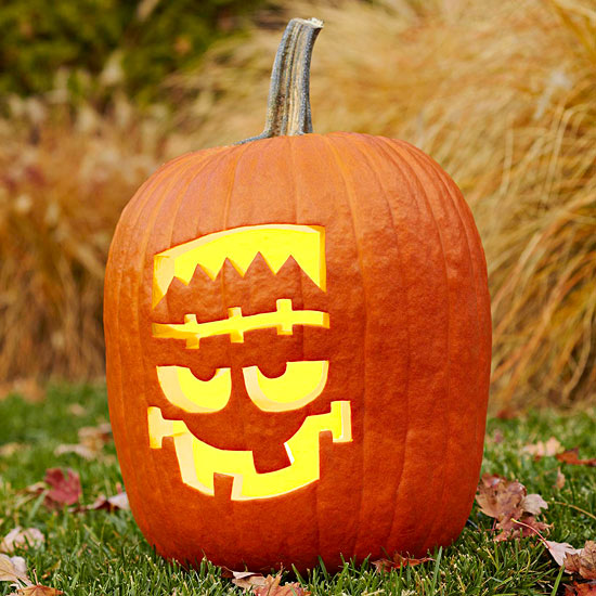 Frankenstein's Monster Pumpkin from Better Homes and Gardens