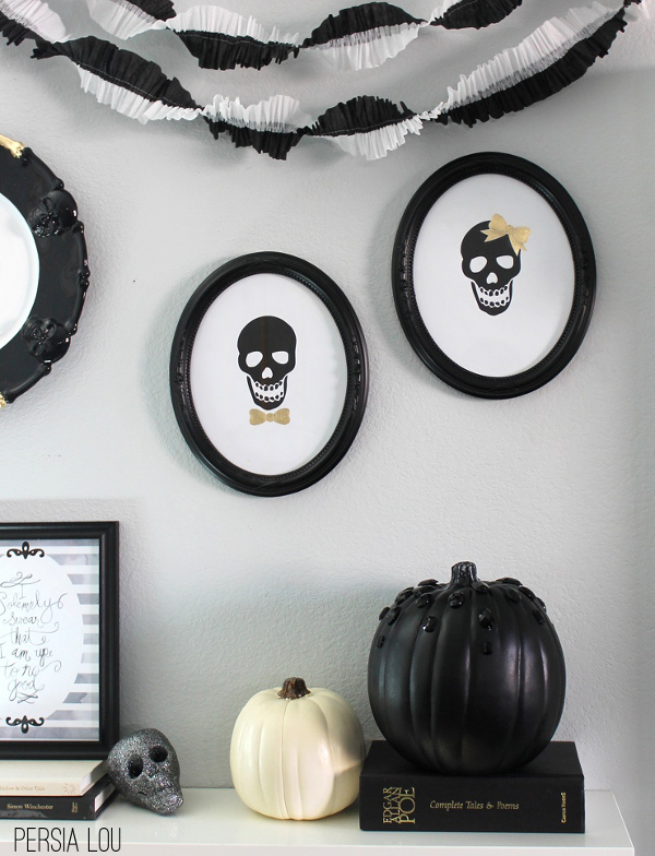 Mrs. & Mr. Skull Cameo Free Printables from Persia Lou