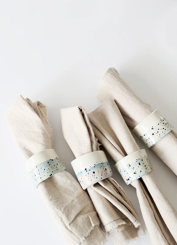 Faux Ceramic Napkin Rings from Almost Makes Perfect