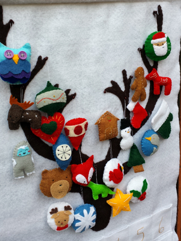 Felt Advent Calendar | Red Circle Crafts