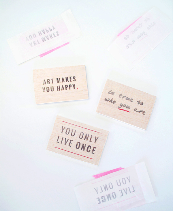 Print onto Wood DIY from Oh The Lovely Things